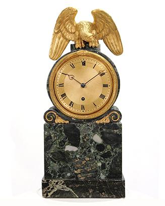 Green Marble Mantel Clock By Benjamin Vulliamy Carlton